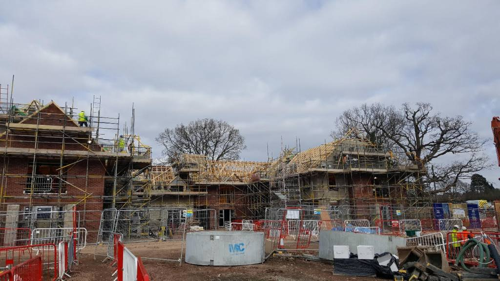 construction at albany meadows balsall common