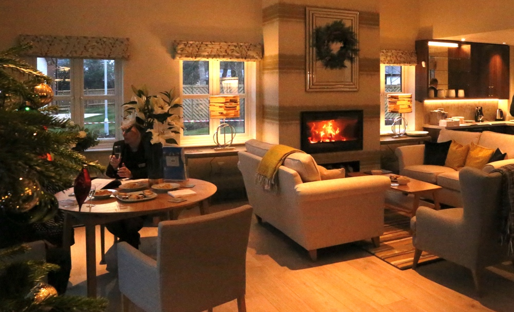 albany lounge at christmas